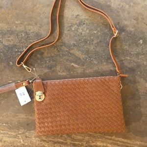 Handbags - NWT cross body with wristlet and long strap!